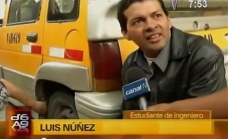 Luis Núñez, estudiante Arequipa, convierte un coche de gasolina en eléctrico