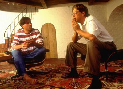 Bill Gates y Steve Jobs de jóvenes