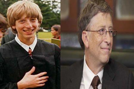 Bill Gates de joven y de mayor
