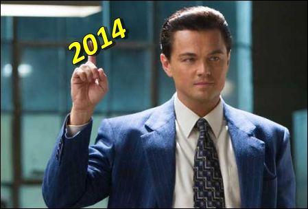 Leonardo di Caprio en Lobo de Wall Street.