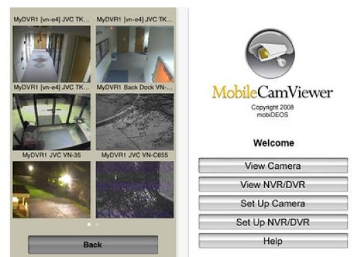 Mobile Cam Viewer app