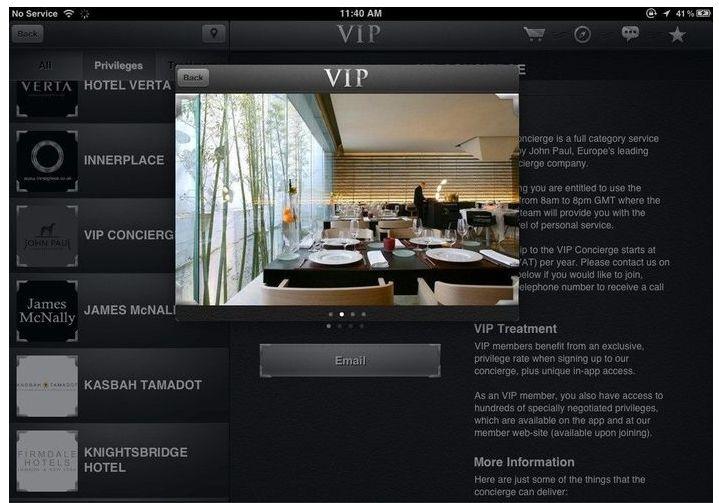 Vip Black, la aplicacion de los millonarios.