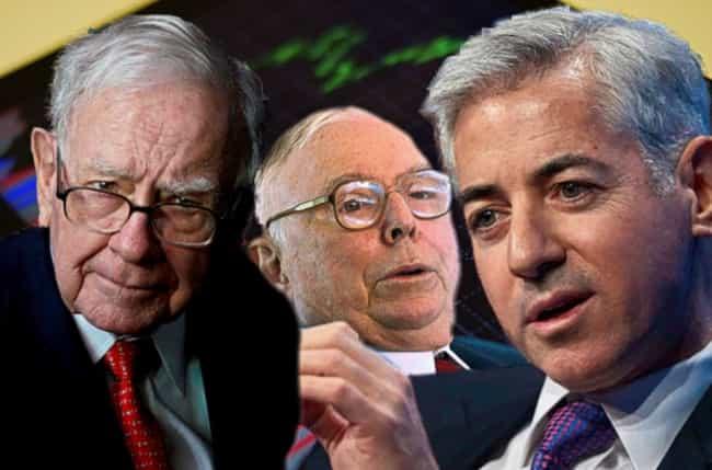 Warren Buffett, Charlie Munger y Bill Ackman - invertir en bolsa