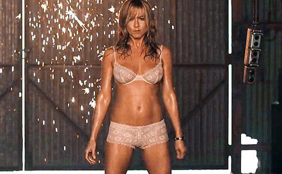 Jeniffer Aniston en la escena de Streptease