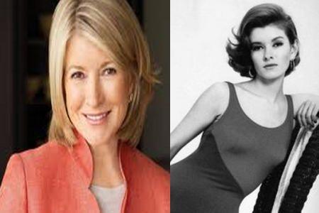 Martha Stewart en la actualidad y de joven