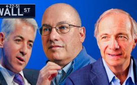 Bill Ackman, Steve Cohen y Ray Dalio gestores de hedge funds