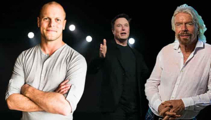 Emprendedores: Richard Branson Elon Musk Tim Ferris